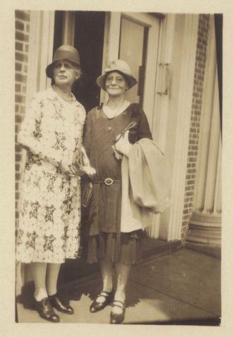 Jessie Choate & Miss Galbraith, 1927