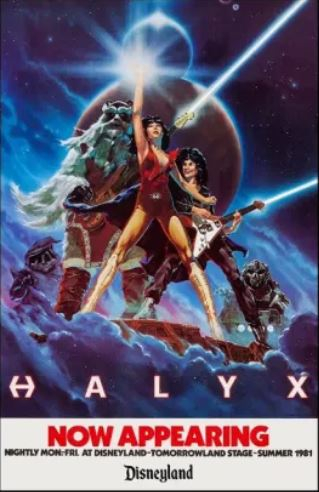 HALYX Promotional Poster for 1981 Disneyland Performances