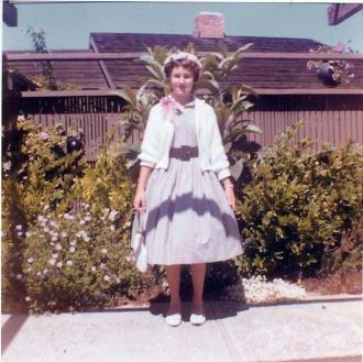 Michelle Elizabeth Johnson Summer 1959 while visiting Grandmother Bull