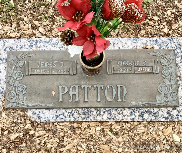 James D Patton + Maggie E Patton Grave