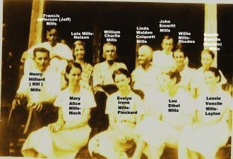William Charlie Mills & family