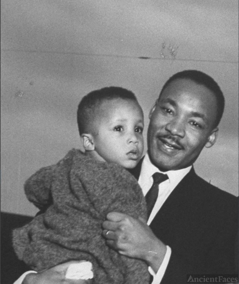 Martin Luther King Jr with MLK III