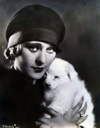 Dolores Costello and Puppy