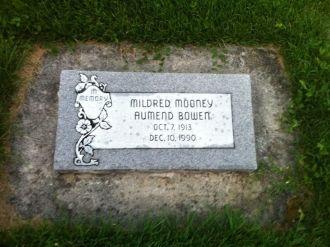 Mildred Mooney Aumend Bowen gravesite