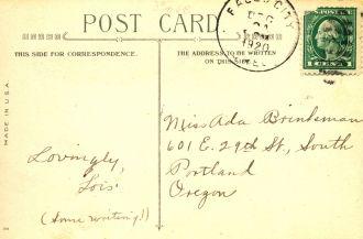 Postcard to Ada Brinkman, 1920