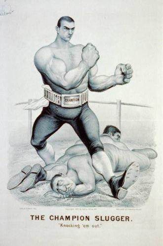 "The champion slugger--""Knocking 'em out"" / Edw. W...."