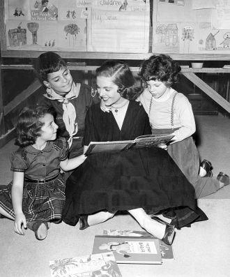 Betty Ann Grove and children