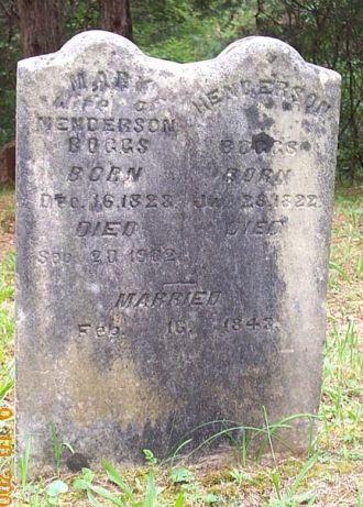 Henderson Boggs Headstone