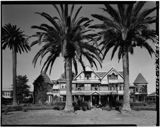 1. EAST FRONT - Winchester House, 525 South Winchester...