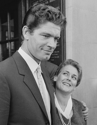 Stephen Boyd with wife.