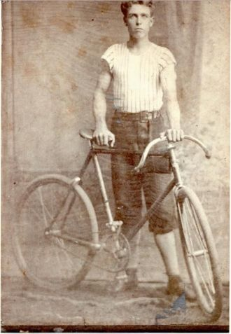 Herbert Cocker & his bike