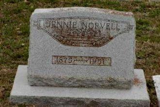 Nancy (Jennine)Harris Norvells Headstone