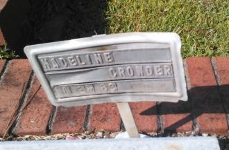 Madeline Crowder gravesite