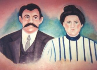 Marion Ernest Bivins and 1st wife Annie Conaway