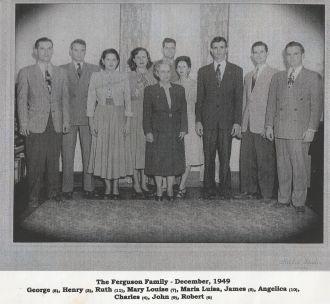 Maria & Bismarck Ferguson family 1949