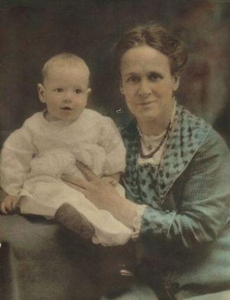 Gertrude Morrow and Infant Howard Morrow