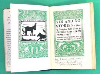 Helen and George Papashvily autograph