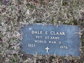 Dale Eugene Claar gravesite