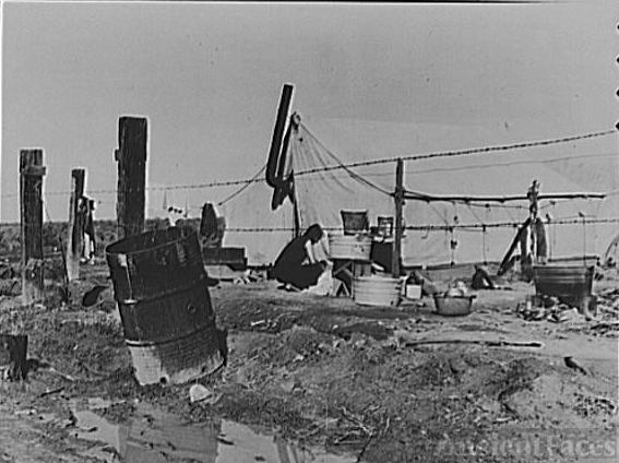 Housing for Oklahoma refugees. California