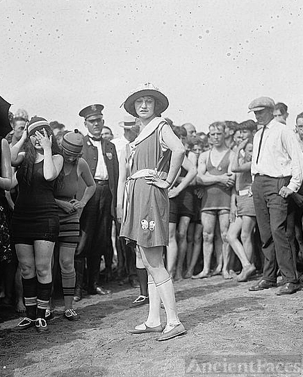 June Roberts in rubber bathing suit, 6/17/22