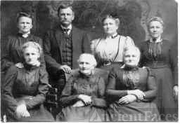 My Great Great Grandmother Haun or Hahn, my Great Grandmother Eliza Emily Mowery or Mowrer Johnson with Great Aunts and Uncle on my Dad's Father's side. Family resemblance? I think so!!