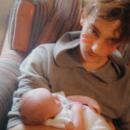 Nic holding his cousin Aj