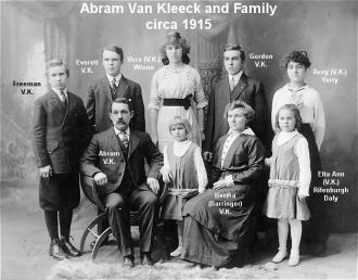 Abram Van Kleeck Family, 1915