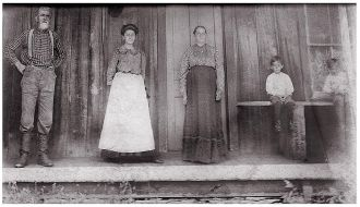 Henry and Abigail Case on the farm