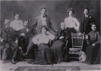 Madison Webster & family, 1910