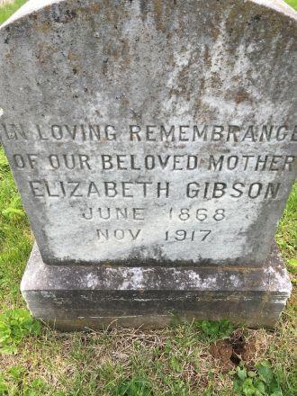 Grave of Elizabeth Gibson