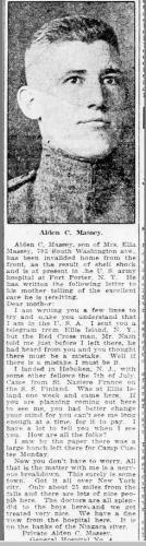 Alden Clyde Massey Military newspaper