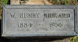 "Walter Henry "" Hank"" Rickard Headstone"