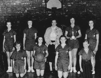 Hodgen or Heavener High School 1954 Girl Basketbal