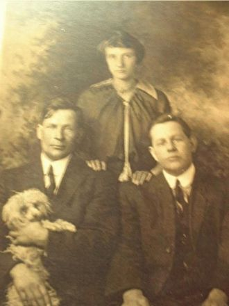 Grover Charles, Neva, and Bert L. Gates
