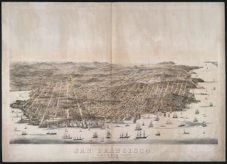 San Francisco. Bird's-eye view / drawn & lithographed by...
