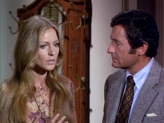 Joanna Pettet with Paul Richards.