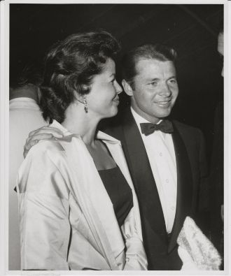 Audie Murphy and wife