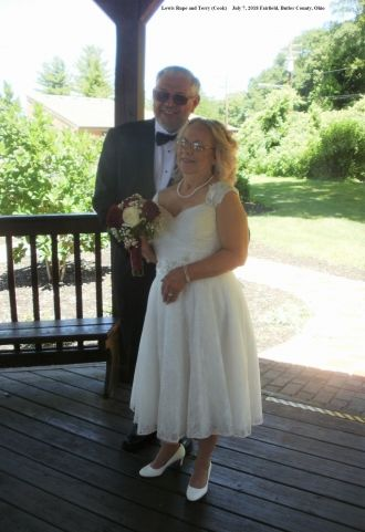 Lew and Terry Rupe wedding, 2018