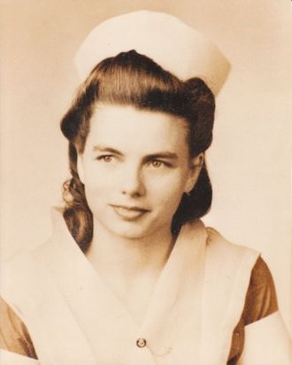 Grace Naomi Gill Polk in Nursing Uniform