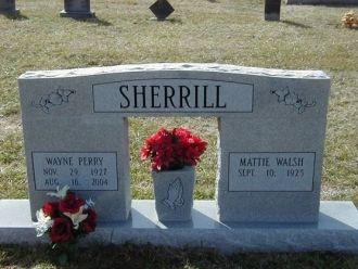 Wayne Perry Sherrill gravesite