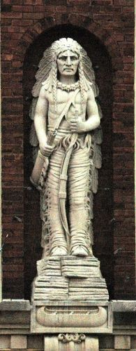 Redmen building Statue, Kewanee Illinois