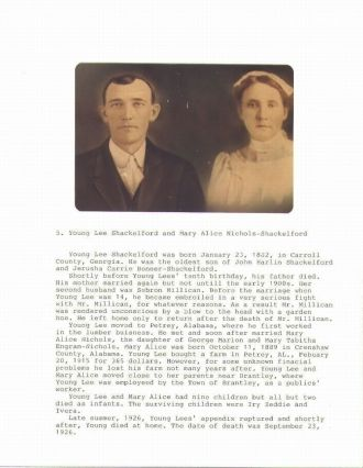 Young Lee Shackelford & Mary Alice Nichols