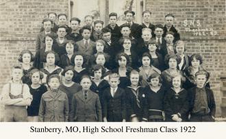 Stanberry, MO, HS Freshmen 1922