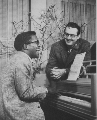 Sammy Davis Jr. and Steve Allen.