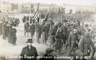 American troops entering Luxembourg