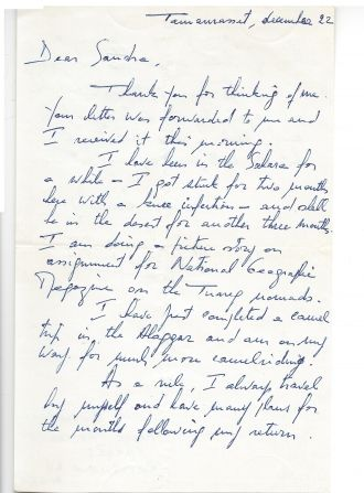 Victor Englebert letter to me page 1.