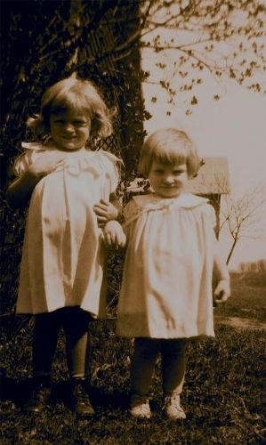 My Aunt Alice and Aunt Phyllis as children
