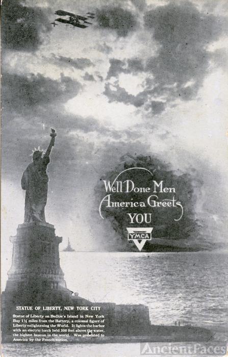 YMCA World War I postcard