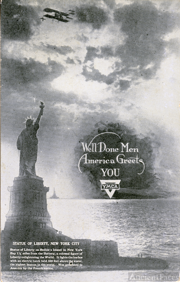 YMCA World War I postcard