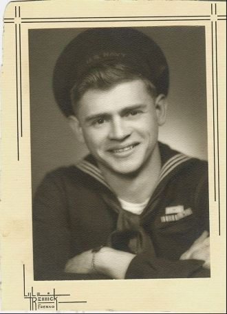 John L. Osborn in Navy Uniform WWII